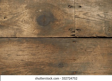 Closeup of Worn and Dirty Wood Floor