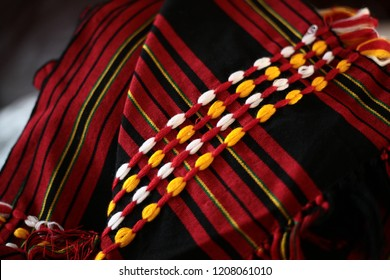 Closeup of a woven cloth from the Igorot people of the Philippines.