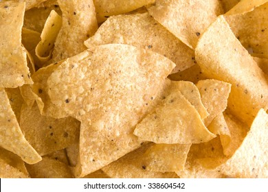 Close-up of yellow tortilla chips