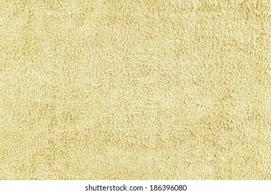 Closeup of yellow towel texture for background