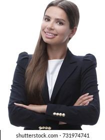 closeup. young business woman.
