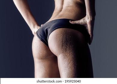 Big ass latina in thong