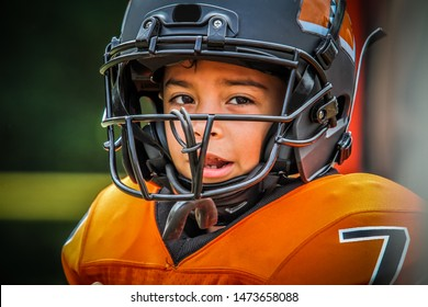 Closeup of Young Football Player