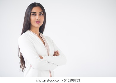 Closeup of Young Gorgeous Indian Business Woman