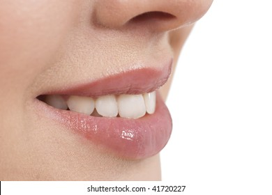 Close-up of a young woman smile