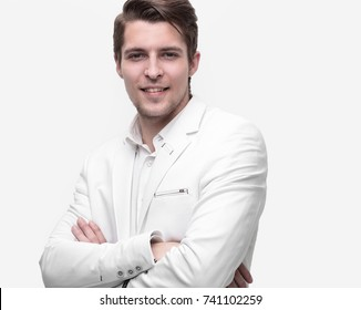 closeup.confident young businessman