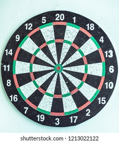 closeup.Darts Board isolated on white background. photo with copy space