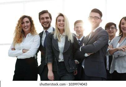 closeup.friendly business team.