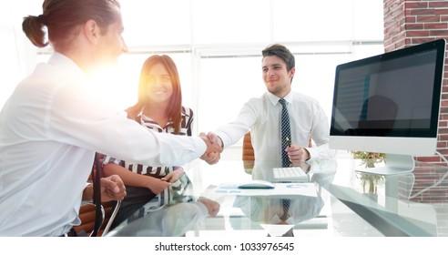 closeup.handshake of business partners