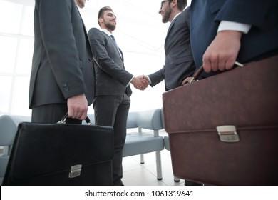 closeup.meeting business partners.