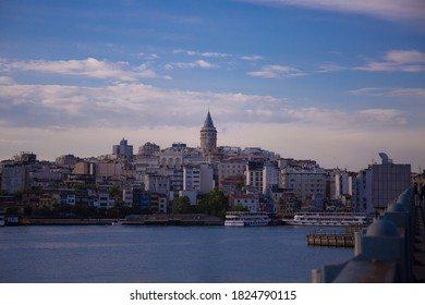 Close-ups of Istanbul, showing the Galata Tower and the Bosphorus - Shutterstock ID 1824790115