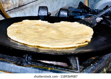 Closse up of Cuisine Chapati Also Know as Roti, Fulka, Paratha, Indian Bread, Flatbread, Whole Wheat Flat Bread, Chapathi, Wheaten Flat Bread, Chapatti, Chappathi or Kulcha