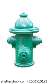 closup ancient geen firehydrant isolate
