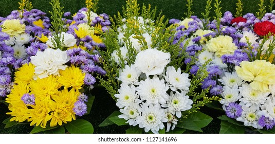 closup colerful flower bouquet.