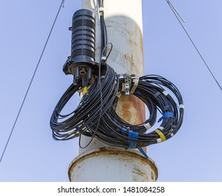 Closure Optical Fiber with black cable