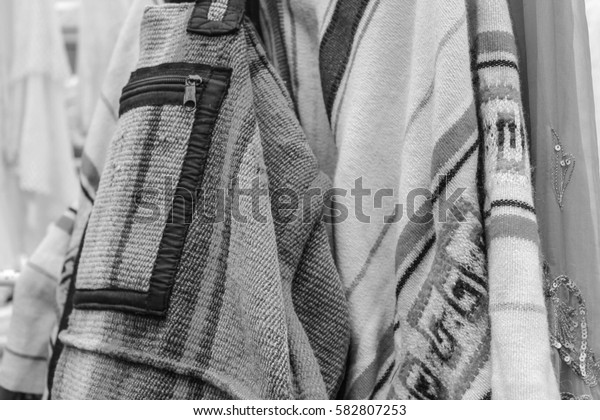 Cloth Background   in Black and White