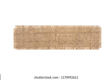 cloth burlap isolated on white background