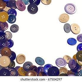 Cloth buttons falling frame. 3d