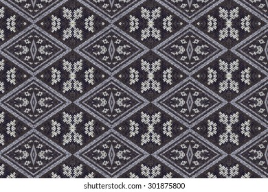 Cloth embroidered motifs close