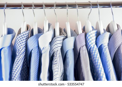 Cloth Hangers with Shirts. Men's business clothes