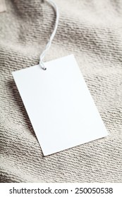 Cloth label tag blank white mockup