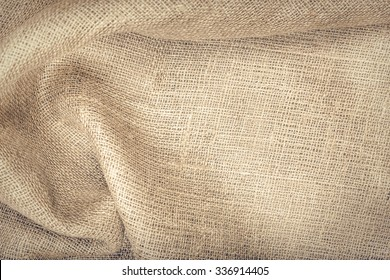 Cloth a sacking. Texture to host your image or text.