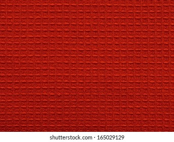 Cloth surface with wafer texture