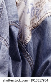 Cloth texture, close-up of fabrics, abstract images of fabrics,