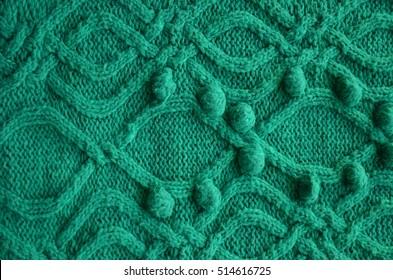 cloth, wool, knitting, large knit, woolen product knitting crochet, pattern, decor, green yarn, needlework, women's hobbies, macromolecule, complex pattern, warm, cozy sweater