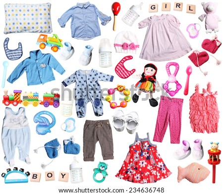 ac21e63cd Clothes Accessories Baby Boy Girl Stock Photo (Edit Now) 234636748 ...