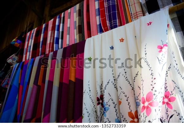 Clothes Accessories Made Sale Sapa Vietnam Stock Photo (Edit
