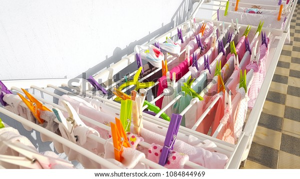 clothes clothespins multicolored household plastic for background
