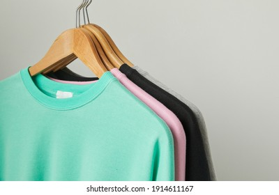 clothes hanging in the store