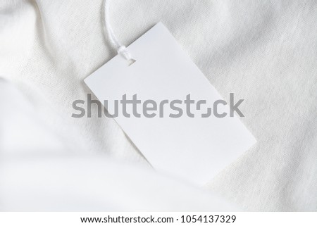 Clothes Label Tag On Cloth Background Stock Photo (Edit Now ...