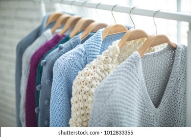 Clothes on a hanger, sweater