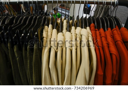 d8538ef51 Clothes Rack Ladies Winter Jackets Coats Stock Photo (Edit Now ...