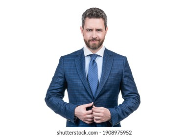 Clothes that mean business. Professional man in suit isolated on white. White collar employee. Professional occupation and career. Formal fashion style. Formalwear. Dress for job and life you want.