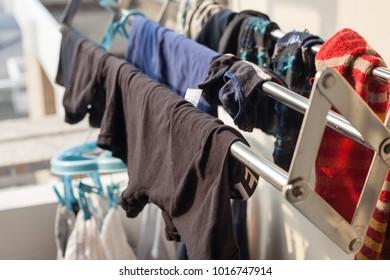 Clothesline in out door