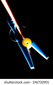 clothespin on a black background