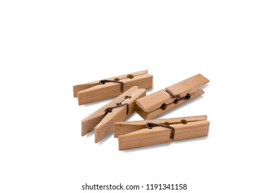 clothespin on white background.