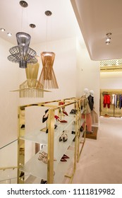 clothing and accessories luxury store  interior