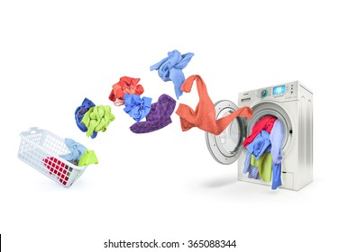 clothing falls into the washing machine