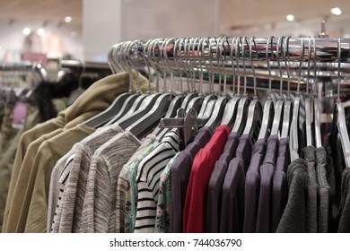 Clothing on display