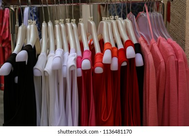 Clothing for sale in the store