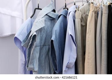 Clothing store. linen shirts