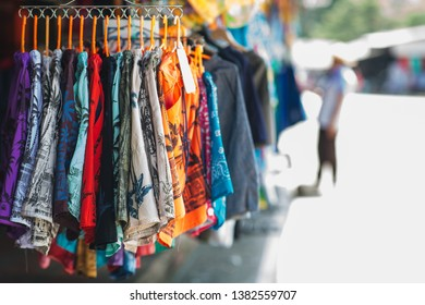 Clothing store at Thailand street market, Stall shop