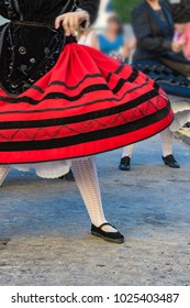 Clothing and traditional dance of Segovia in Spain