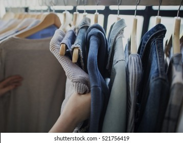 Clothing Wardrobe Fashion Trend Concept