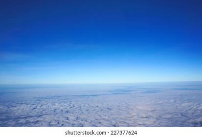 Cloud above the sky
