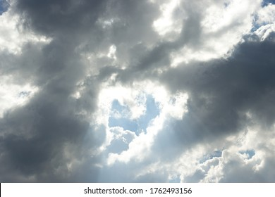 Cloud background with heart shape